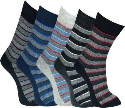 Marc Men's Graphic Print Crew Length Socks(Pack of 5)