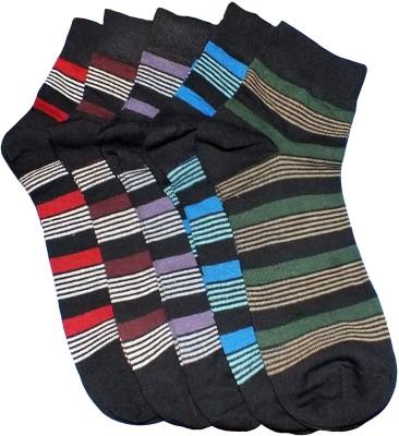 Marc Men's Self Design Ankle Length Socks(Pack of 5)