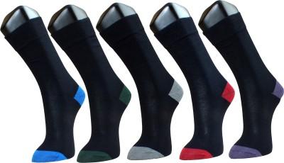 Marc Men's Solid Crew Length Socks(Pack of 5)
