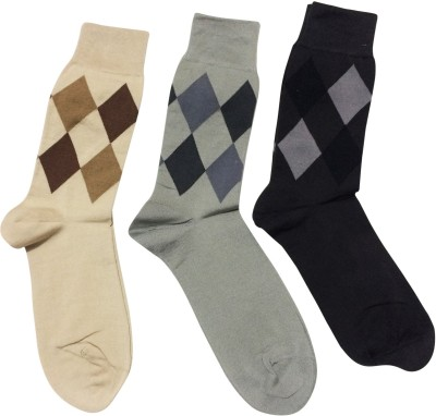 Graceway Men's Self Design Crew Length Socks