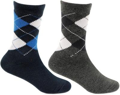 Bonjour Boys Self Design Mid Calf/Crew Bonjour Kids' Socks