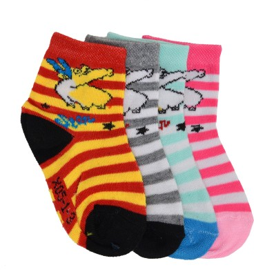 Welwear Baby Boys Printed Ankle Length Socks(Pack of 4)