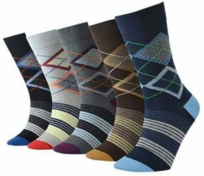 Avm Hw Velvet Men's Self Design Crew Length Socks