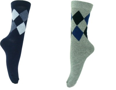 SFA Men's Geometric Print Mid-calf Length Socks