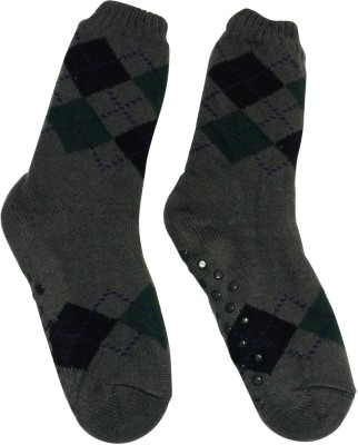 Graceway Men's Geometric Print Crew Length Socks