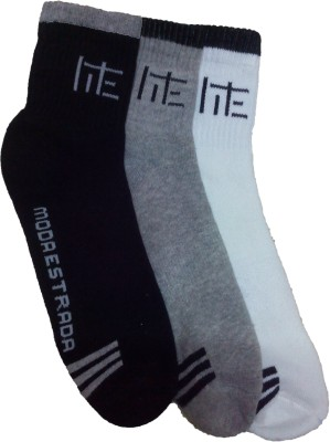 Moda Estrada Men's Striped Ankle Length Socks
