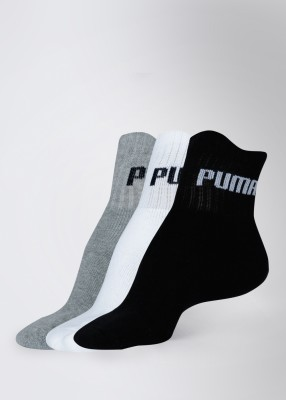 Puma Men's Solid Ankle Length Socks(Pack of 3)  available at flipkart for Rs.189