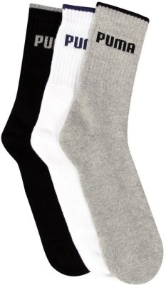 Puma Men's Solid Crew Length Socks(Pack of 3)  available at flipkart for Rs.349