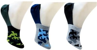 Neska Moda Men & Women Geometric Print No Show Socks(Pack of 3)