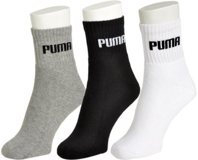Puma Men's Solid Ankle Length Socks(Pack of 3)  available at flipkart for Rs.199