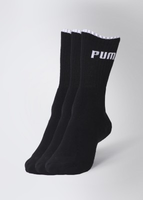 Puma Men's & Women's Solid Crew Length Socks(Pack of 3)  available at flipkart for Rs.299