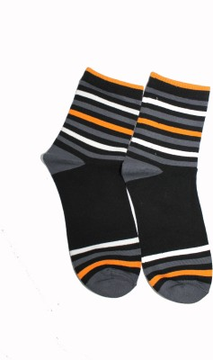 69th Avenue Men's Striped, Solid Ankle Length Socks