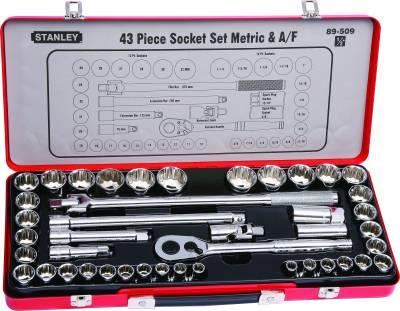 Stanley-89-509-43-Piece-1/2-Inch-Socket-Set