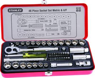 Stanley 89516 46 Piece Drive Socket Bit Set Image