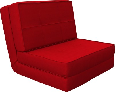 Camabeds Isten Futon Single Metal Sofa Bed(Finish Color - Red Mechanism Type - Fold Out)
