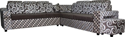 Knight Industry Fabric 7 Seater  Sofa(Finish Color - BROWN)