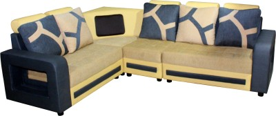 Knight Industry Fabric 5 Seater  Sofa(Finish Color - Multicolor)