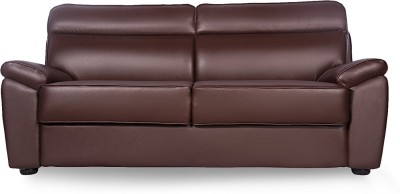 Godrej Interio Planteous Sofa Leatherette 3 Seater Sofa(Finish Color - Coffee Brown)