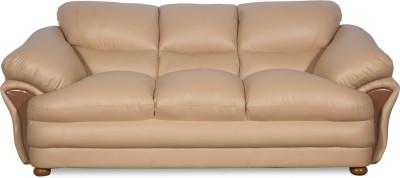 Godrej Interio D-Ventura Leather 3 Seater Sofa(Finish Color - Brown)
