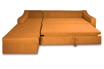 Dolphin Fabric 3 + 2 Orange-Brown Sofa Set(Configuration - L-shaped)