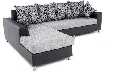 81f8f43adc 62% OFF on Furnicity Fabric 3 + 3 Grey Sofa Set on Flipkart   PaisaWapas.com