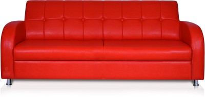 Dolphin Leatherette Sectional Red Sofa Set(Configuration - Straight)