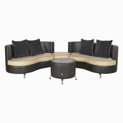 Prime Godrej Interio Athena Plus In S1N Lth Blackb Leatherette 2 2 Beige Black Sofa Set Machost Co Dining Chair Design Ideas Machostcouk
