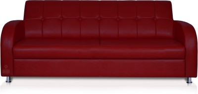 Dolphin Leatherette Sectional Maroon Sofa Set(Configuration - Straight)