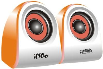 Zebronics 2.0 Multimedia Speakers Igloo Laptop/Desktop Speaker(Orange, 2.0 Channel)  available at flipkart for Rs.411