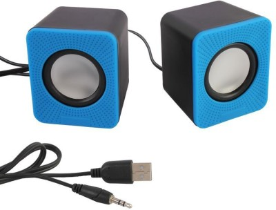 HashTag Glam 4 Gadgets Multimedia USB 2.0 Mini E01 1292 10 W Portable Laptop/Desktop Speaker(Blue, 2.0 Channel)  available at flipkart for Rs.300