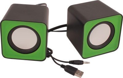 HashTag Glam 4 Gadgets Wired Multimedia USB 1490 10 W Portable Laptop/Desktop Speaker(Green, 2.0 Channel)  available at flipkart for Rs.300