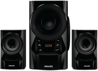 Philips MMS6080B/94 60 W Portable Bluetooth Laptop/Desktop Speaker(Black, 2.1 Channel)