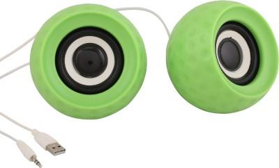 Speed Wired Multimedia Usb Speaker 10 W Portable Laptop/Desktop Speaker(Green, 2.0 Channel)  available at flipkart for Rs.319