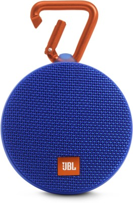 JBL CLIP 2 BLUE 3 W Portable Bluetooth Mobile/Tablet Speaker(Blue, Stereo Channel)