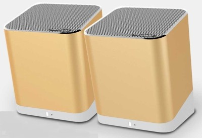 TRENDWOO TWINS Gold Bluetooth Dual Portable Bluetooth Mobile/Tablet Speaker(GOLD, 2.0 Channel)