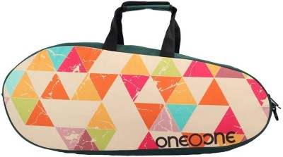 One O One Canvas RBCV01TE Green/Multicolour Kit Bag Multicolor, Kit Bag One O One Badminton Bag