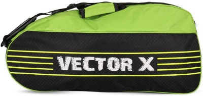 Vector X SMASH BADMINTON KIT BAG BLK GRN Badminton Kit Bag Black, Kit Bag Vector X Badminton Bag