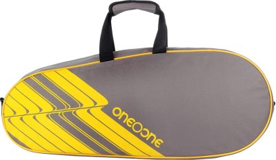 One o One Lines Collection Single Yellow Racquet(Multicolor, Kit Bag)