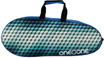 One O One Canvas RBCV01BK Blue/Multicolour Kit Bag Multicolor, Kit Bag One O One Badminton Bag