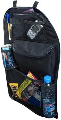 Sky Car Back Organizer Mutli Storage Compartments Large Pocket Bag Trucks Vans Pen Holder Pockets Beverage Adjustable Seat Straps Black