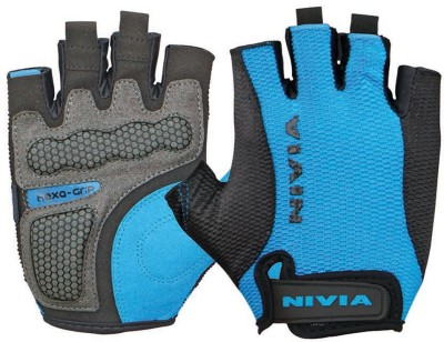 Nivia Hexa Grip Gym & Fitness Gloves (L, Blue, Black) at flipkart