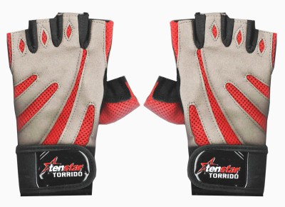 Tenstar TS407_GymGloves_Torrido_Red. Gym & Fitness Gloves (Men, Red, Grey)