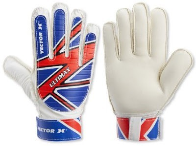 Vector X Ultimax Goalkeeping Gloves (Men, White, Blue, Red)