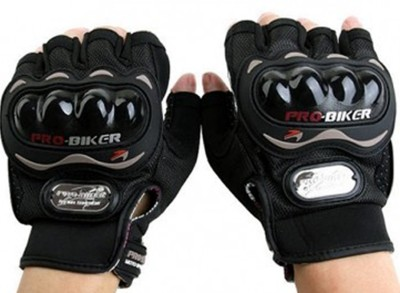 Probiker Pro Biker Half Cut Gloves Black L Size Driving Gloves(Black)