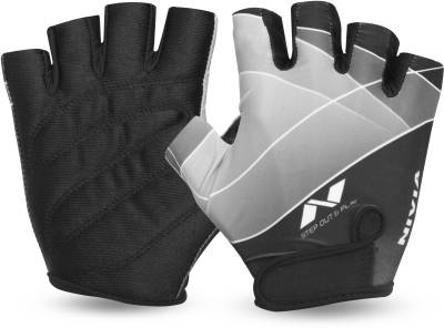 Nivia Crystal Gym & Fitness Gloves (M, Black)