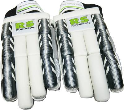 RS Robinson Black Batting Gloves (XL, Black)