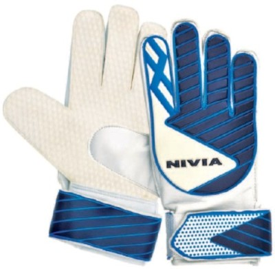 Nivia Armour Goalkeeping Gloves (L, White, Blue)