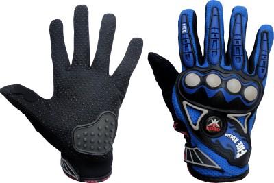 Kobo 3805 Cycling Gloves (M, Black, Blue)