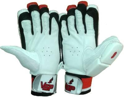 VSP Brio Batting Gloves (Boys, White, Red)