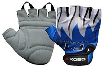 Kobo Exercise Weight Lifting Grippy Hand Protector Padded_F Gym & Fitness Gloves (XL, Blue)  available at flipkart for Rs.246